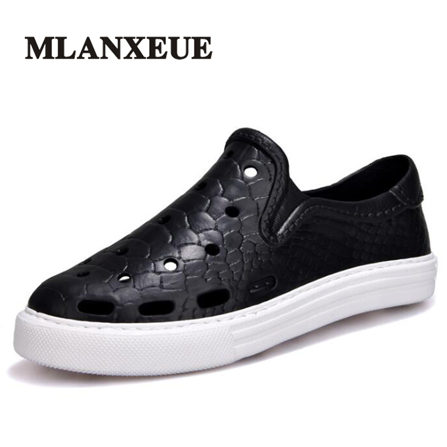 Mlanxeue 2018 Sandals Summer Men Shoes Fashion Hollow New Breathable Beach Designer Brand Male Shoe Size 36-45 Sandalias Hombre contact s brand coin purse men wallets leather genuine clutch male wallet small money bag coin pocket walet credit card holder