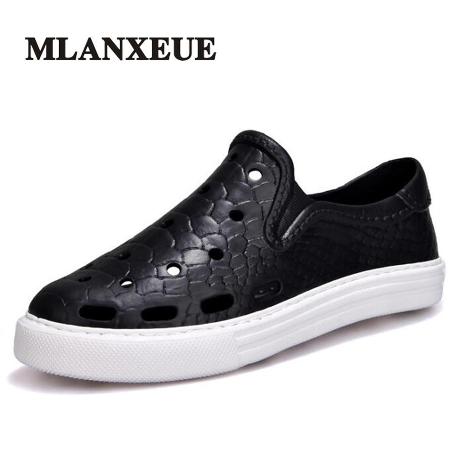 Mlanxeue 2018 Sandals Summer Men Shoes Fashion Hollow New Breathable Beach Designer Brand Male Shoe Size 36-45 Sandalias Hombre