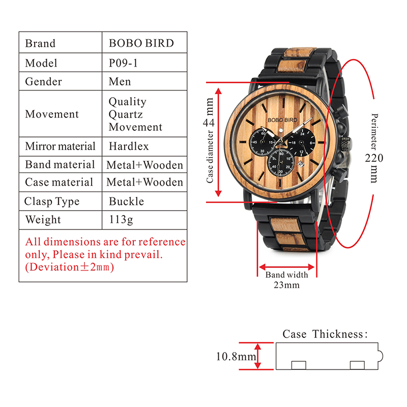 design de madeira e metal relógios de