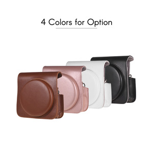 Image 2 - Andoer PU Leather Protective Camera Case Bag for Fujifilm Instax Square SQ6 Instant Film Camera Bag with Adjustable Strap