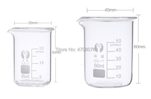 Image 3 - 50ml 12pcs/set Pyrex Beaker borosilicate glass Lab glassware chemical measuring cup flat bottom for scientific test