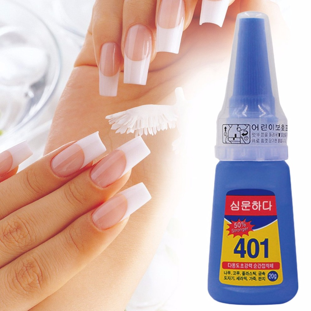 Multifunctional 401 Instant Adhesive 20g Super Strong Liquid Glue Home Office School Nail Glue Beauty Supplies For Wood Plastic deli liquid glue ab glue dry curing for metal plastic wood glass ceramics high strong adhesive liquid glue 4ml 1pcs
