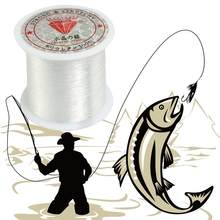 Elastic 0.2mm-0.8mm Diameter Clear Nylon Fish Fishing Line Spool Beading String White Weaving Fishing(China)