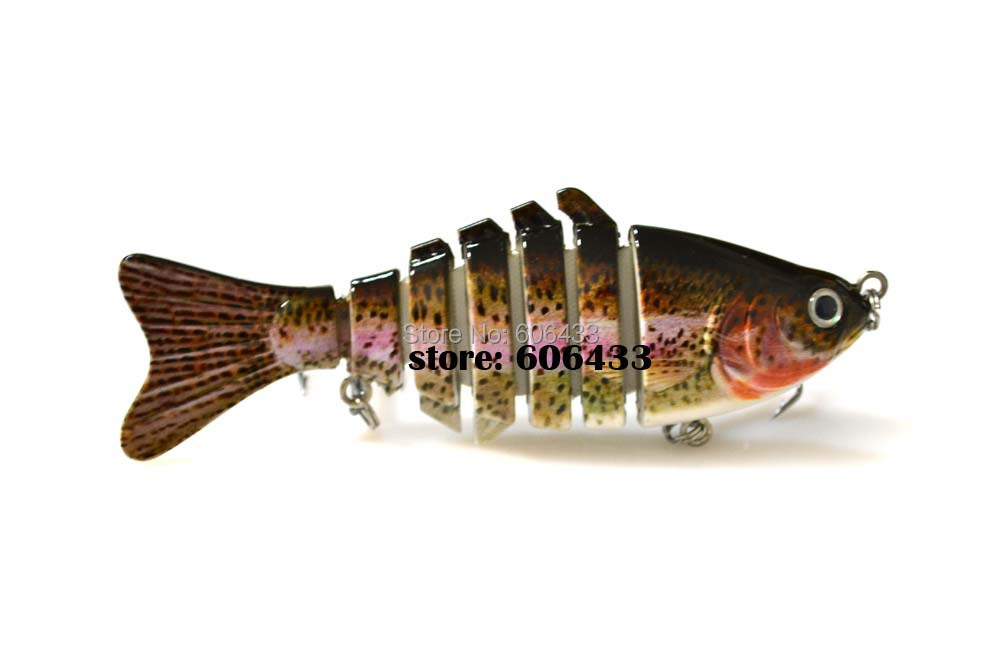 Deep Sea Multi section Lure Fishing Fish Swing Lures 7 Segment Swimbait Crankbait 10cm/15g 8042-FL7F01 Free shipping