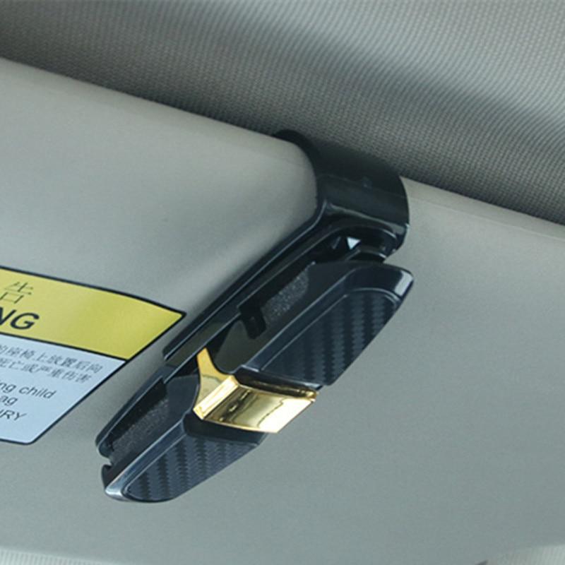 Tree-on-Life Black Auto Fastener Car Glasses Holder Auto Vehicle Visor Sunglass Eye Glasses Business Bank Card Ticket Holder Clip Support