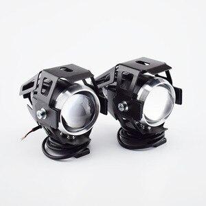 Image 3 - Huiermeimi 2PCS 125W Motorrad LED Scheinwerfer 12V 3000LMW U5 Motorrad Fahren Scheinwerfer Scheinwerfer Moto Spot Kopf Licht lampe DRL