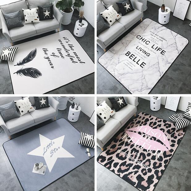 150x190 cm INS grand Super doux flanelle tapis nordique 15mm épaissir salon tapis tapis de jeu tapis antidérapant tapis couverture
