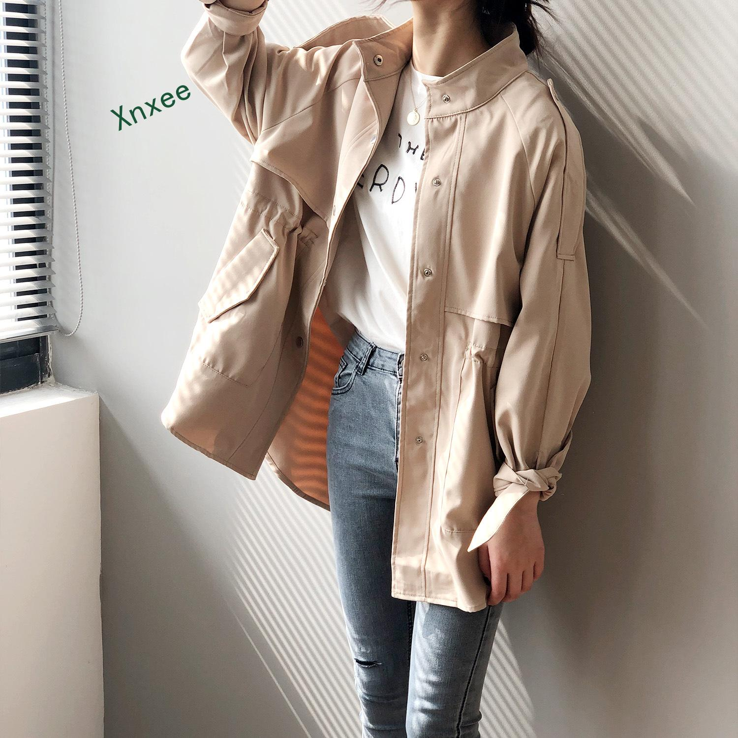 Xnxee women coat Windshield Short Style Spring New Korean Top Student Loose Coat women clothes jacket duster coat