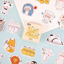 45Pcs/box Japanese Kiiroitori Sticker Scrapbooking Cute Cartoon DIY Journal Decorative Adhesive Label Seal Stationery Supplies
