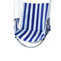 Single Garden Balcony Porch Cotton Rope Oxford Swings Chair Leisure Hammock Outdoor Portable Assembly Swing
