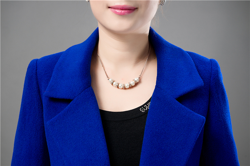 Wool Coat Female Fashion Women Woolen Coats High-end Elegant Long Slim Winter Jacket Royal Coats&Jackets Plus Size Femininos 4XL 10
