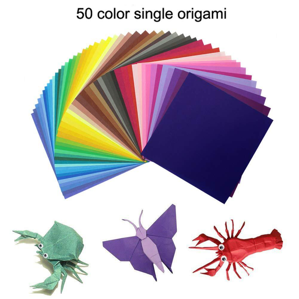 Hot 200pcs/Set Kids Baby Cute DIY Square Pattern Origami Paper Folded Handmade Paper Craft Decor Models Toys 2019