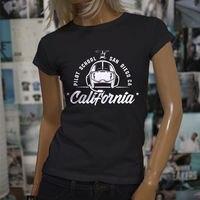 2017 Brand T Shirt Women Fashion Short Sleeve Cotton T Shirts California Pilot School Helicopter Flight