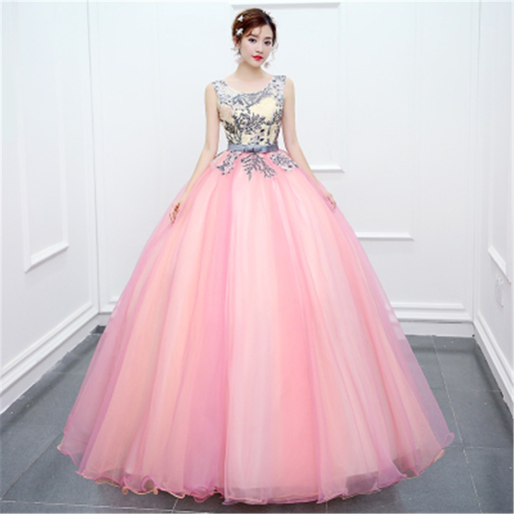 ruthshen Vintage Prom Dresses 2018 New Long Prom Ball Gowns Pink ...