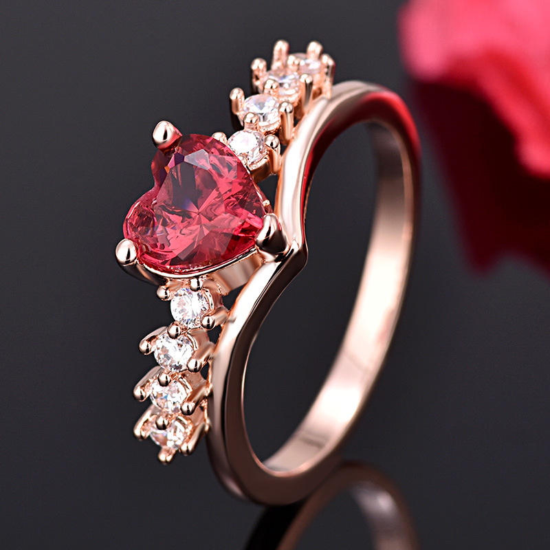 PRECIOUS RUBY RED HEART RING 4