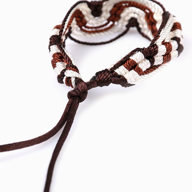 Cheap brazilian bracelet multicolor braided boho chain bohemian tassel handmade sport chain friendship bracelets brown unisex 4