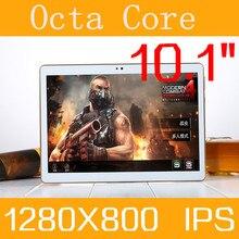 Tablet PC de la tableta 10.1 3g 4g tablet Octa Core 1280*800 ips 4g ram rom 128 gb android 5.1 gps bluetooth Dual sim tarjeta de Llamada Telefónica