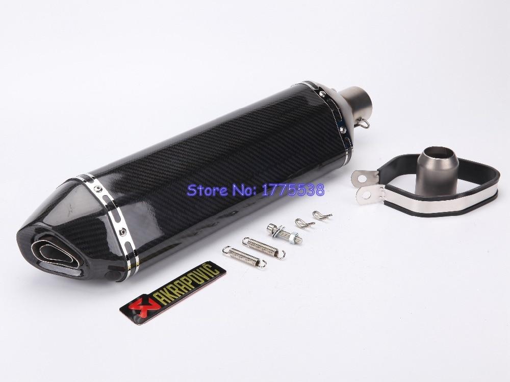 Здесь продается  PHULEOVEO Carbon Fiber ID:51mm L:570mm Motorbike Motorcycle Muffler Exhaust Pipe Silencer Damper Escape Baffle with DB Killer  Автомобили и Мотоциклы