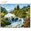 KEDODE River Landscape Frameless Painting Digital Painting Wall Art DIY Canvas Number Painting Home Decoration Picture