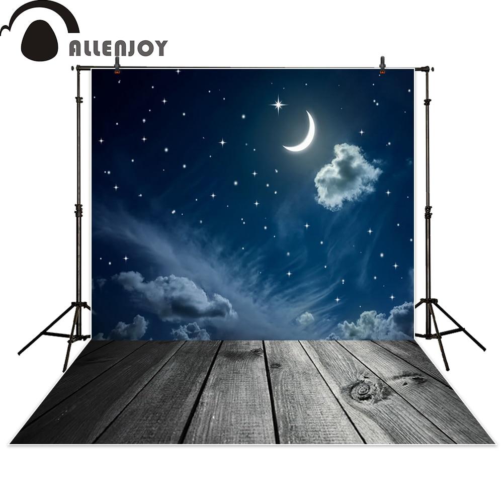 사진 스튜디오 야간 달 별을위한 Allenjoy 배경 꿈 bokeh 베비 샤워 사진 소품 photobooth photocall