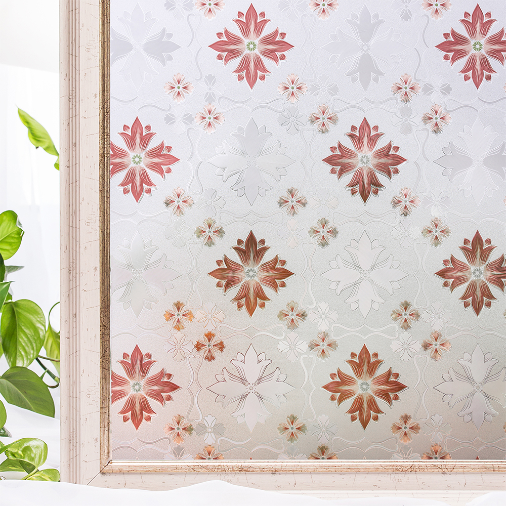 CottonColors self adhesive Window Films Cover No Glue 3D Static Decorative Privacy Window Bathroom Glass Sticker 45 x 200cm in Decorative Films from Home Garden