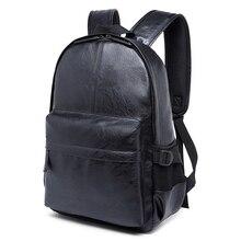 stacy bag 122315 hot sale man PU leather backpack male casual travel bag laptop bag school bag