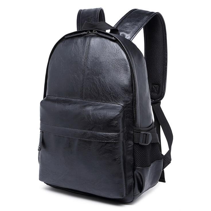 스테이시 가방 122315 뜨거운 판매 남자 PU 가죽 배낭 남성 캐주얼 여행 가방 노트북 가방 학교 가방