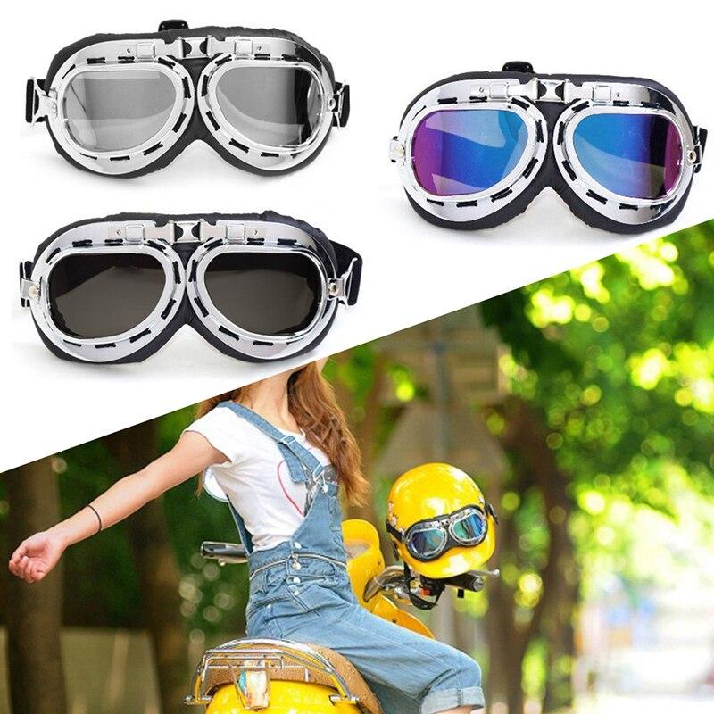New Retro Vintage Aviator Pilot Bike Motorcycle Cycling Goggles Eyewear Glasses