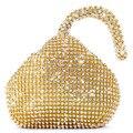 Hot! Triangle Full Rhinestones Women's Evening Clutch Bag Party Prom Wedding Purse Fashion Hot Selling