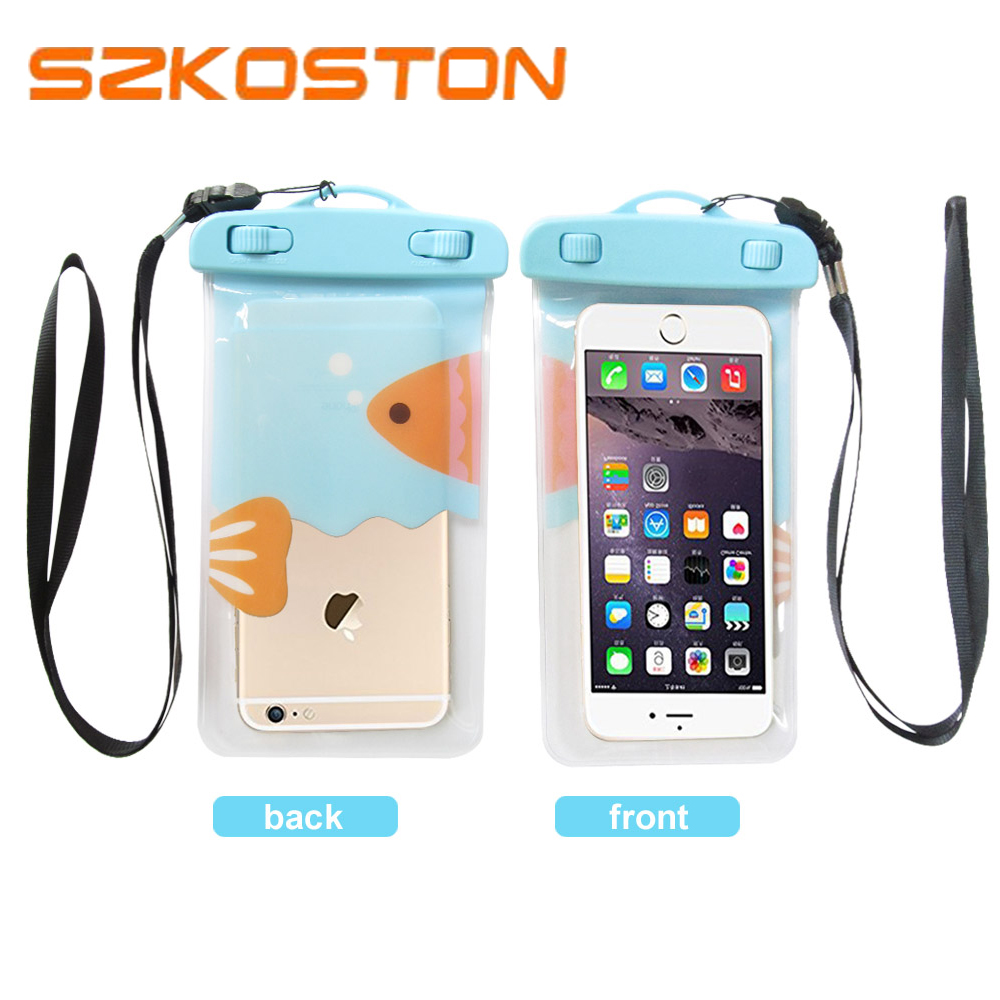 Waterproof Bag With Strap Underwater Pouch Phone Case For iPhone 8 8 Plus 7 7P 6 6s 5 4 For Huawei P8 P9 lite honor 8 Phone Bag