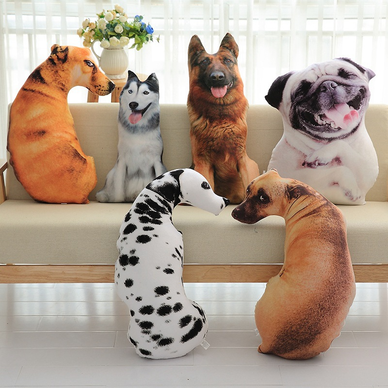 50cm/45cm Cute Stuffed Plush Dog Toy Dolls Husky Shar Pei Dalmatians Plush Pillow Cushion Home Decoration Birthday Gift ZM cute lie prone dog long pillow cushion bolster plush toy stuffed doll baby kids friend birthday gift home shop decor triver page 2