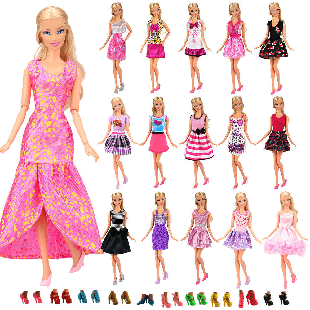 "New Handmade For Barbie Dress Shoes 12/"" For Barbie Doll Clothes Three Piece Set"