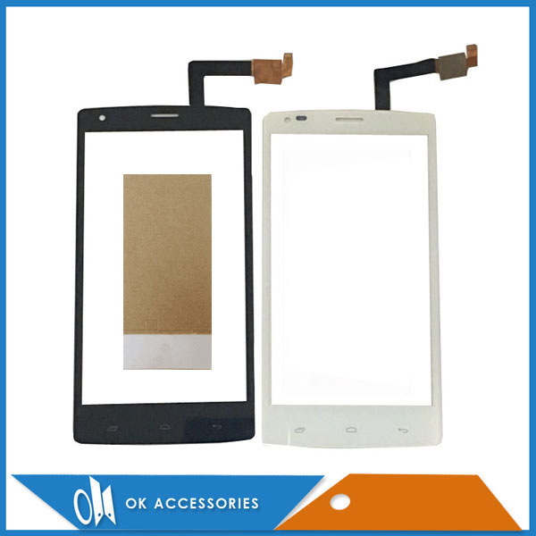 High Quality For Fly IQ4505 Quad Era Life 7 IQ 4505 Touch Screen Digitizer White Black Color With Tape 1PC/Lot. ...