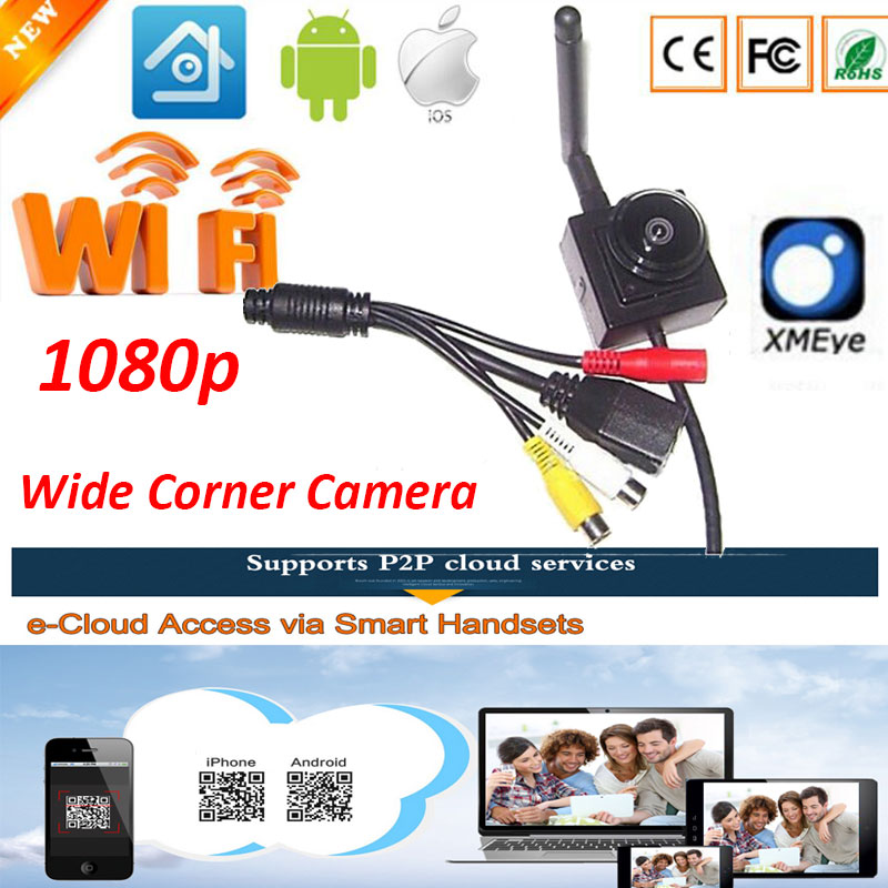 Wifi Ip font b Camera b font for 1 78mm Fisheye Lens Wide Angle H 264