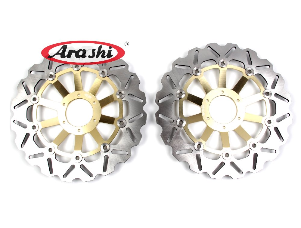 Arashi 1 Pair CB600 HORNET CNC Front Brake Disc Brake Rotors For HONDA CB 600 HORNET 1998 1999 CB400SF 2002 2003 2004 security light with motion detector sensor solar power 60 led flood lights home