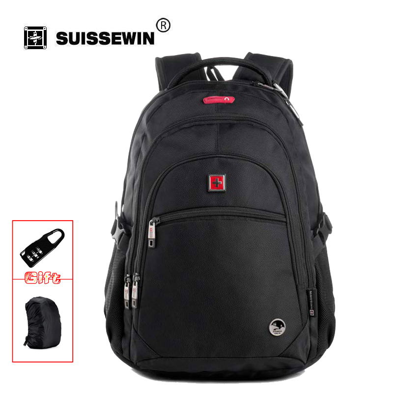 Swisswin fashion men laptop backpacks mini waterproof bags women school travel bag brand new bag sale