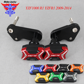 Frame Guard Cover Slider Anti-Falling Crash Pads Protector For Yamaha YZF1000 R1 YZFR1 2009-2014 YZF 1000 2013 2012 2011 2010