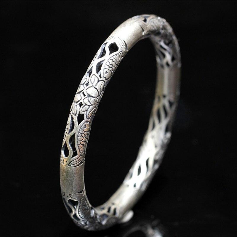 2018 vente directe offre spéciale Bracelet caractère de produits bijoux en Sterling en gros contracté Bracelet de travail du bois mme Fisher