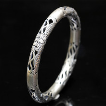Character of silver products Sterling silver jewelry wholesale contracted Ms. Fisher woodwork bracelet