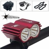 SolarStorm 5000 Lumens XM-L T6 LED lampe de vélo lumière de vélo + batterie et chargeur livraison gratuite