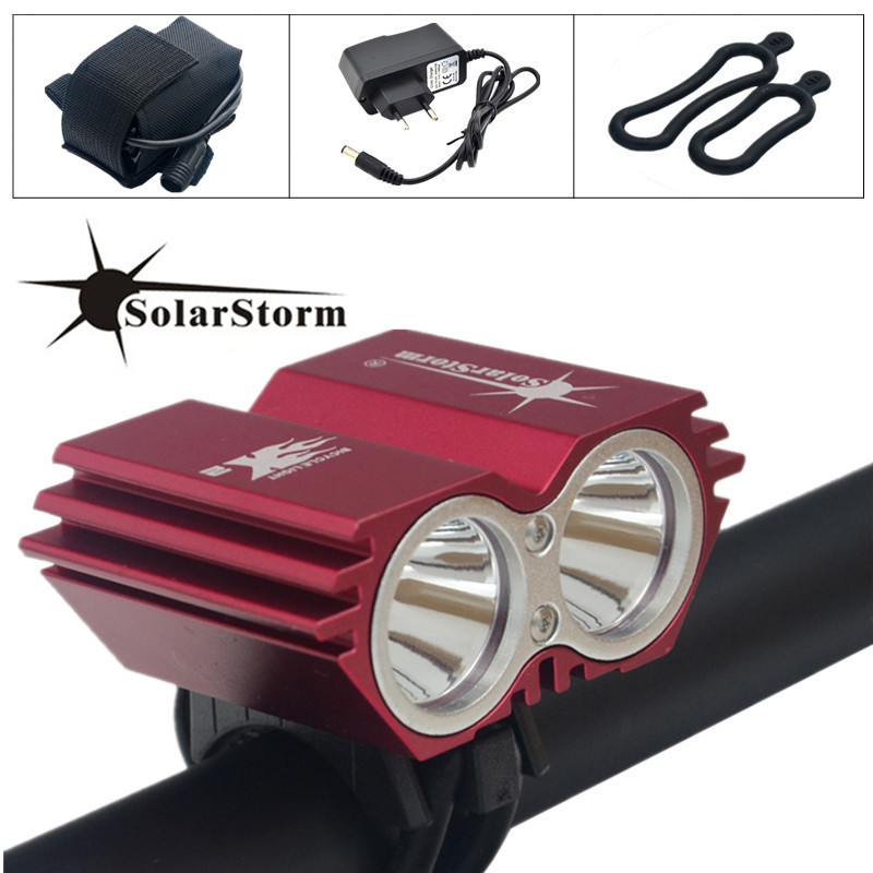 Solarstorm Lamp Bicycle-Light Charger Battery-Pack Xm-L t6 Lumens 5000 LED title=