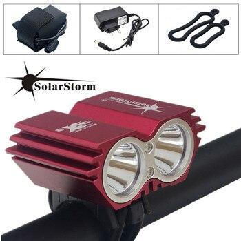 SolarStorm 5000 lumenów XM-L T6 LED światła rowerowe światła lampy + akumulator i ładowarka darmowa wysyłka