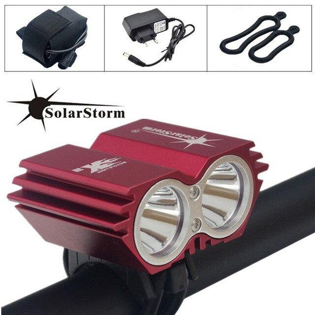 Solarstorm 5000 люмен xm-l T6 светодиодные велосипед свет лампы + Батарея обновления и Зарядное устройство Бесплатная доставка
