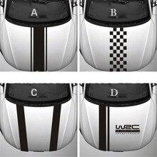 Chunmu Настройка WRC Полосы Виниловые покрытия для автомобилей гоночных видов спорта наклейка на голову автомобиля Наклейка для Ford Focus, Cruze Renault аксессуары