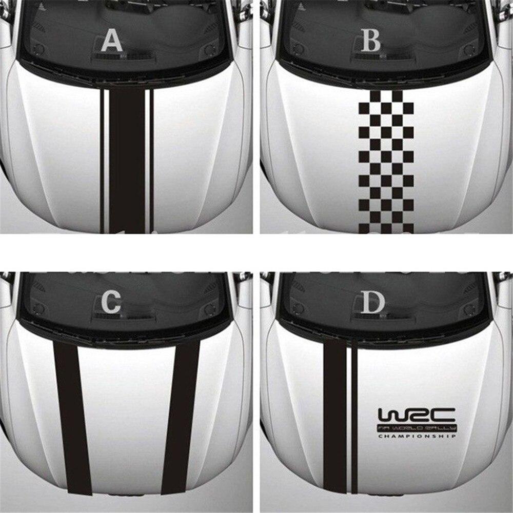 Chunmu Настройка WRC Полосы Виниловые покрытия для автомобилей гоночных видов спорта наклейка на голову автомобиля Наклейка для Ford Focus, Cruze Renault ...