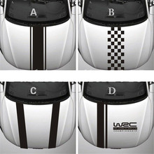 Chunmu Customization WRC Stripe Car Covers Vinyl Racing Sports Decal Head Car Sticker for Ford focus Cruze Renault Accessories