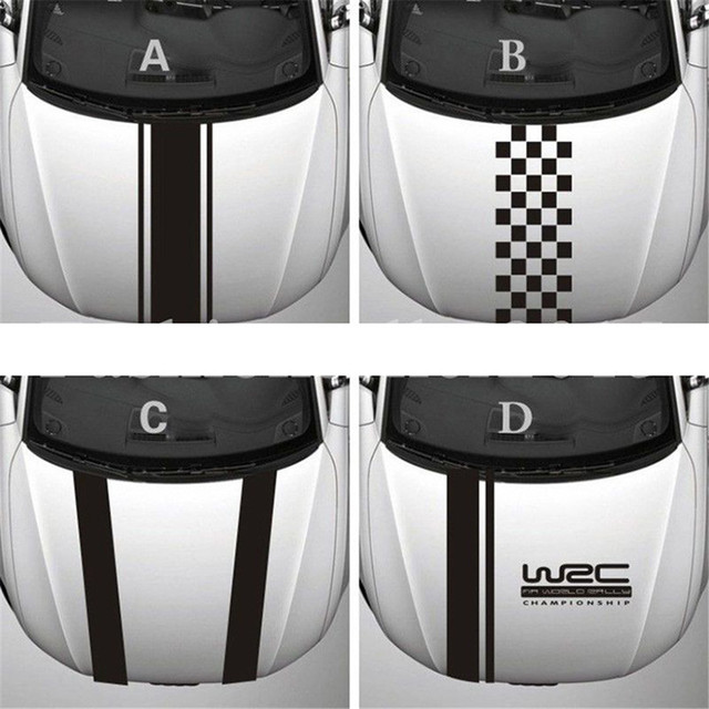 Chunmu Customization WRC Stripe Car Covers Vinyl Racing Sports Decal Head Car Sticker for Ford focus Cruze Renault Accessories