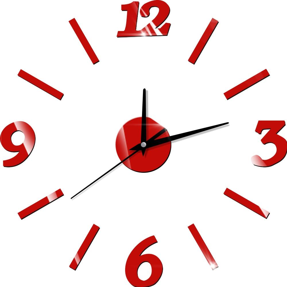 12 '' 3D ceasuri de perete 3D ceas de bucătărie digitală în aer liber modern mare mare numeral retro cuarț antic ceas de perete decorat acrilic