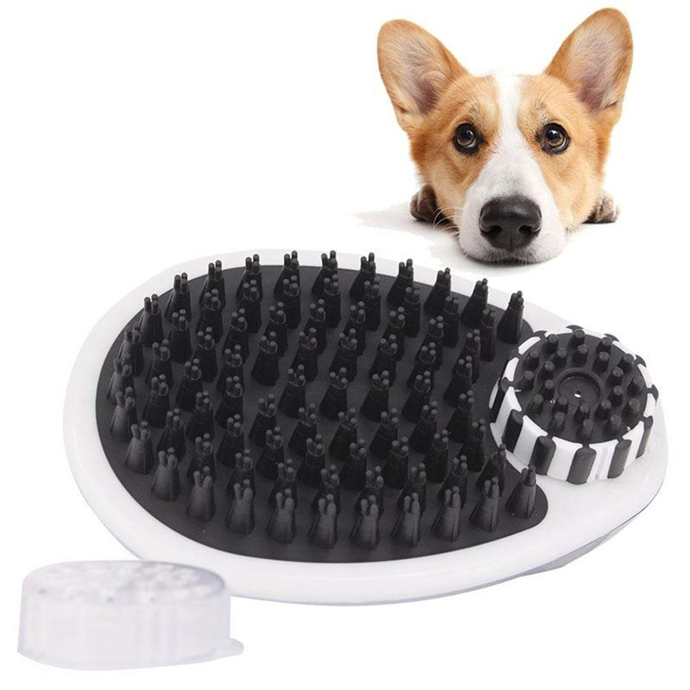 LumiParty Pet Dog Bath Brush Pet Grooming Shower Massage Comb Cleaning Tool Can Hold 150ml Shampoo