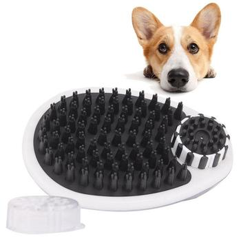 Adeeing Pet Dog Bath Brush Pet Grooming Shower Massage Comb Cleaning Tool Can Hold 150ml Shampoo